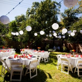 Backyard Wedding Decoration Ideas Inspiring With Picture Of