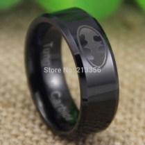 Batman Mens Wedding Ring