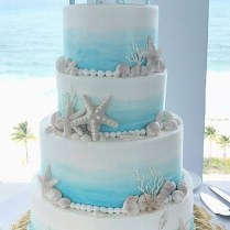 Beach Themed Wedding Cake – Johnson's Custom Cakes