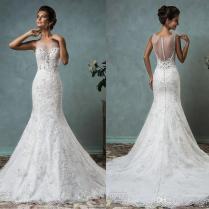 Beach Wedding Dress 2016 New Arrival Amelia Sposa Mermaid Lace