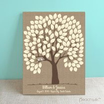 Beautiful Wedding Tree Guest Book