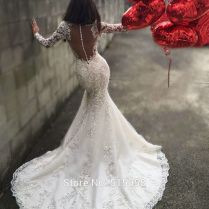 Best 25 Lace Mermaid Wedding Dress Ideas On Emasscraft Org