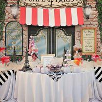 Paris Wedding Theme Centerpieces