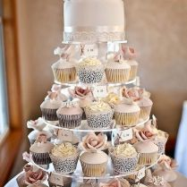 Best 25 Wedding Cakes With Cupcakes Ideas On Emasscraft Org