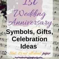 Best Gift Idea First Wedding Anniversary