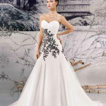 Black And White Corset Wedding Dresses – Watchfreak Women Fashions