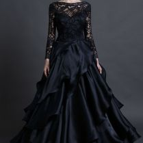 Black Long Sleeve Wedding Dresses Long Sleeve Black Wedding