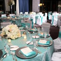 Black Silver And Teal Wedding