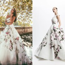 Blooming Trend! 25 Dreamy Wedding Dresses With Romantic Floral