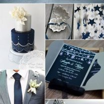 Blue And Gray Wedding Decorations 10557