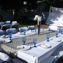 Bridal Shower Blue And Gray Bridal Wedding Shower Party Ideas