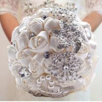 Brilliant Diamond Wedding Flower Arrangements Luxury Handmade Rose