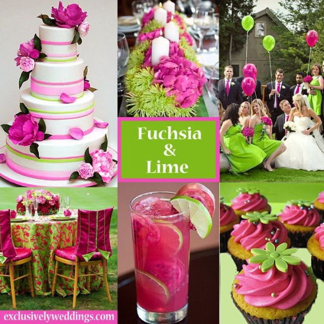 Brilliant Pink And Green Wedding Decorations Pink Green Wedding