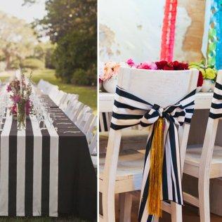Captivating Black And White Striped Wedding Decor 72 On Wedding