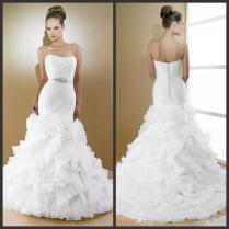 Charming Ruffle Bottom Wedding Dress 36 For Your Used Wedding