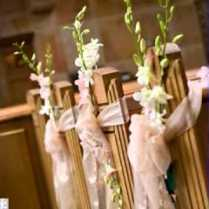 Charming Wedding Pew Decorations 95 For Lace Wedding Dress With