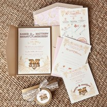 Cheap Shabby Chic Wedding Invitations
