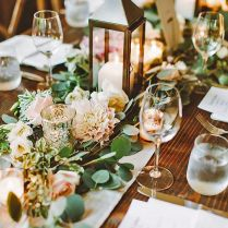 Chic Rustic Wedding Table Decorations Enchanting For 56