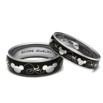 Couple Set Tungsten Band Ring Mens Womens Ring Mickey And Minnie