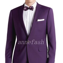 Custom Made Men Purple Wedding Suits 2017 New Gentleman Classic