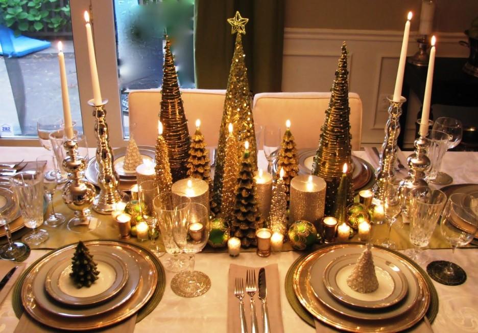 Christmas tree centerpieces wedding