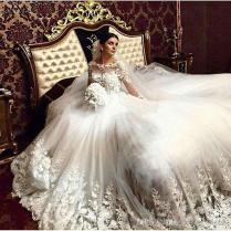Discount 2017 Romantic Victorian Wedding Dresses Scoop Vintage