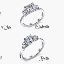 Disney Engagement Rings Unique Princess Belle Inspired Engagement