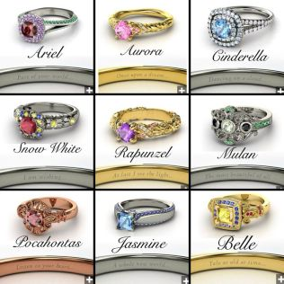 Disney Princess Wedding Rings Disney Princess Wedding Rings