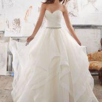 Elegant Lace Organza Ruffle Wedding Dress 74 About Western Wedding