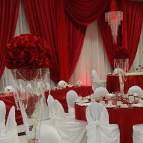 Elegant Wedding Decoration Red And White White Wedding Decorations