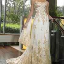 Elegant Wedding Dress With Gold Detail 32 In Cheap Plus Size