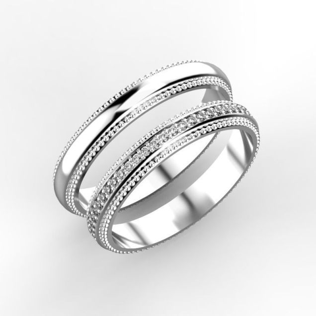 Elegant Wedding Rings 3d Print Model Cgtrader Elegant Wedding
