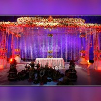 Exquisite Hindu Wedding Decorations With Curtains, Flowers And