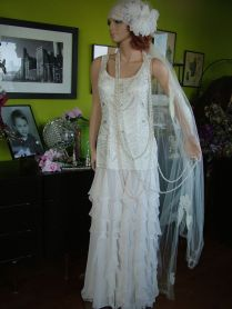 Flapper Wedding Dress