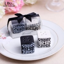 Free Shipping Damask Salt & Pepper Shaker Wedding Favors And Gifts