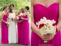 Fuchsia Colored Wedding Dress