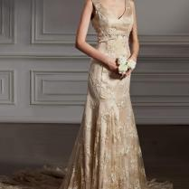 Gold Lace Wedding Dress Naf Dresses