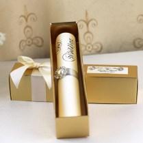 Hi2052 Royal Golden Scroll Wedding Invitation With Rhinestone