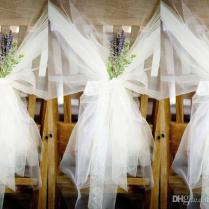 Hot Fashion Tulle Table Cloth Chair Sashes Popular Wedding Chair