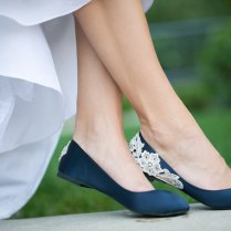 Interesting Wedding Shoes Flats Pertaining To Navy Blue Bridal