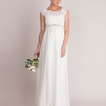 Ivory Silk & Lace Maternity Wedding Dress