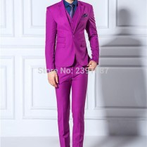 Jackets Pants Vest ) Men Suits Slim Blazers Tuxedo Groom Prom