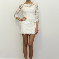 Lace Short Wedding Dresses With Sleeves