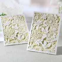 Laser Cut Classics,fancy Paper Craft Handmade Wedding Invitations