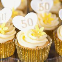 Latest 50th Wedding Anniversary Cupcakes 50th Wedding Anniversary