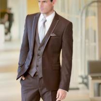Latest Coat Pant Designs Italian Brown Men Wedding Suits Slim Fit