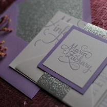Lavender And Silver Wedding Invitations
