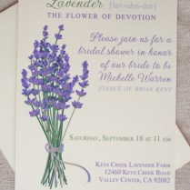 Lavender Wedding Invitation Printable Invitation Purple