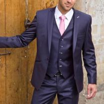 Mens Suits Purple Peaked Lapel Wedding Suits For Men Tuxedos For
