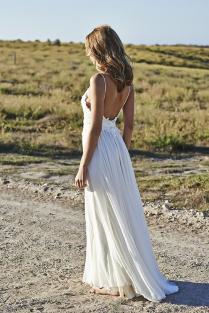 New Flowy Open Back Wedding Dress 80 In Dresses To Wear To A